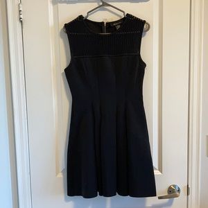 SPRING SALE Fit & Flare LBD with Mesh Neckline